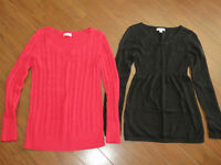 4 maternity sweaters, name brand, excellent condition!