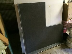 gray/black countertop in great condition-2 pieces