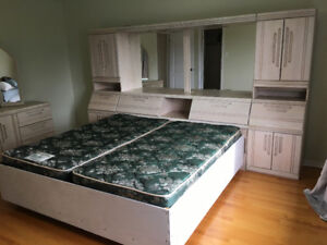FREE . King bedroom set with dresser, storage and mattress