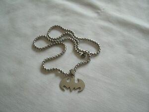 """BRAND NEW"" Stainless Steel Batman Pendant & Chain"