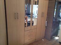 Wood effect wardrobe