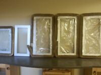 Frosted aluminum kitchen cabinet doors