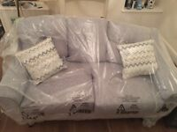 NEW and UNUSED ex-display DFS Presence range 2/3 seater sofa with cushions for sale