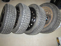 Set of 4 Winter Tires WITH Rims-185/60R15
