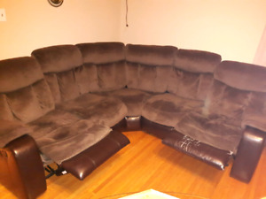 Sectional recliner