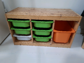 Ikea Trofast kids toys storage unit Bench (Delivery possible)