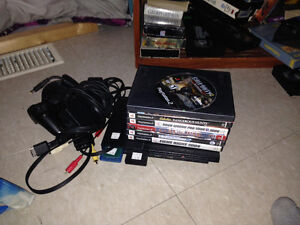 Ps2 slim two men cards,one controllers all cords