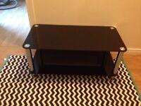 Black glass coffee table £20