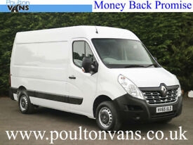 2015 (65) RENAULT MASTER MM35 BUSINESS FWD 125BHP 6 SPEED L2 H2 MWB MED ROOF VAN