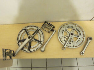 Two SUGINO crank sets, cranks are 127 mm and 170 mm long