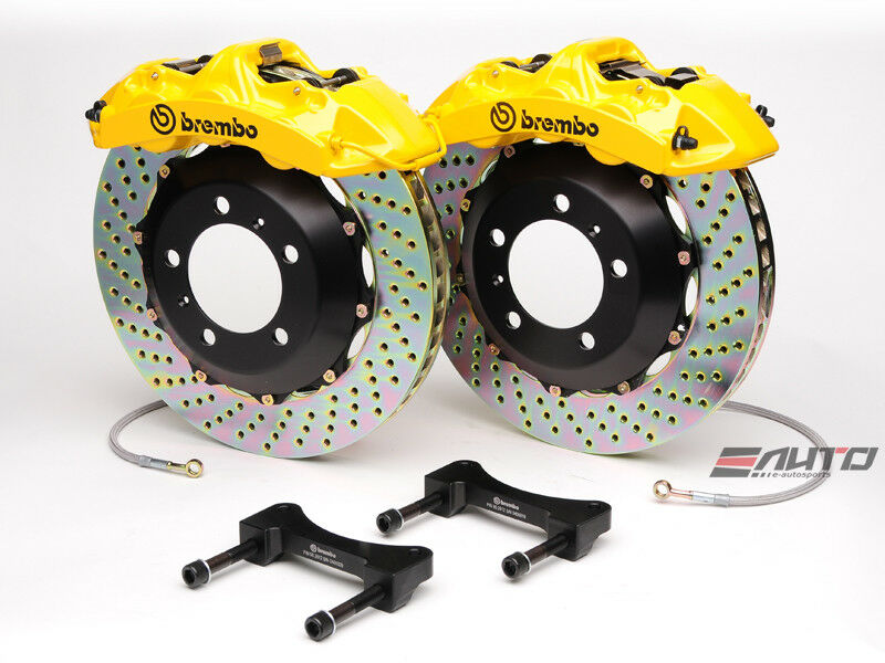 Brembo Front Gt Big Brake Bbk 6pt Yellow 355x32 Drill Disc Ferrari 550 575 96-05