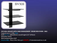 SELLING BRAND NEW DVD WALL MOUNTS, TV WALL MOUNTS & HDMI CABLES