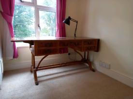 Antique walnut bureau desk