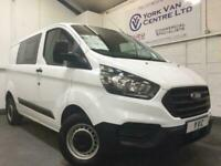 2019 19 FORD TRANSIT CUSTOM 280 DOUBLE CAB L1 H1 SWB 105PS, 5 SEATER EURO 6 DCIV