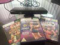 Xbox 360 Kinect and 3 games