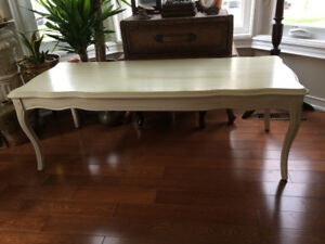Elegant Solid Wood Coffee Table - antique finished