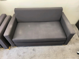 2 IKEA sofa beds Dark Grey