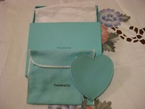 Authentic Tiffany & Co. Blue Patent heart coin purse Valentine