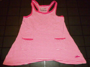 ROOTS - Pink Shark Bite Style Top - Size 5/6