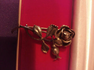 ART DECO STERLING ROSE PIN,WOW A PIECE OF ART !