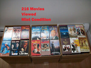 Quality Collection of VHS Movies with Quality VCR Player