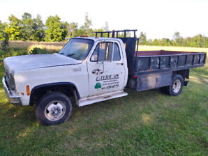 SOLD! 1980 GMC K3500, 1 ton Dually, 4x4, With 12ft Dump Box