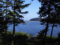 Waterfront lot in Grand River with Ocean view on Cape Breton