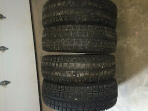 4- LT245\75R16 studded winter tires