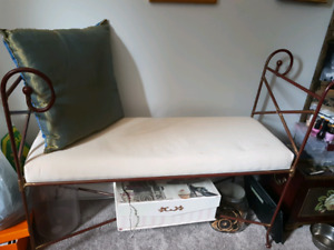 Metal bench with cushion  REDUCED