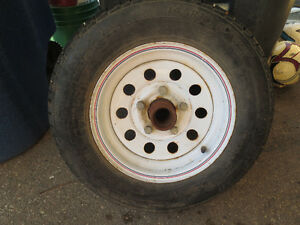 spare trailer tire 145R12 with lots of treads
