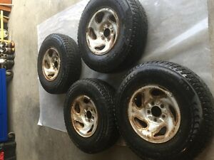 Winter tires on rims for sale