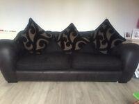 2 X 4 seat fabric sofa