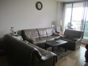 3 leather sofas