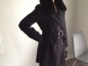 IMADISON BLACK FUR COAT