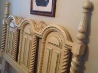 Older all wood 6 pc. Bedroom set