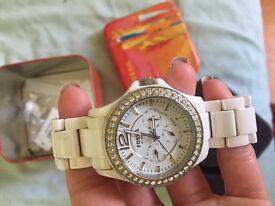 Ladies ceramic Fossil watch