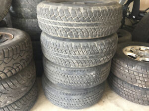 255/70/18 (2 BRIDGESTONE, 2 CONTINENTAL) IN GREAT SHAPE