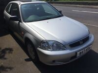 2000 W Honda Civic Tropica 1.4 AUTOMATIC (only covered 52000 miles)