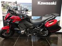 KAWASAKI VERSYS 1000 TOURER KLZ1000BJFA In Red with Panniers