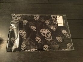 Alexander McQueen Black Chiffon Skull Scarf, New with Tags, RRP $220, Just £70