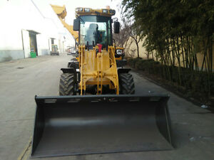 1.6ton Loader with Standard bucket,Snow Bucket and Forks