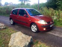 Renault Clio 1.2 Dynamique 3dr - Cambelt Changed - Service History- June 2017 MOT