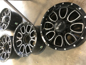 "Helo HE879 rims 17"" x 9"" 8x165.10 came off a 08 GMC Sierra 2500"