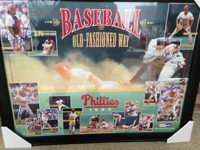 1993 Phillies Baseball the Old Fashioned Way SGA Poster Framed