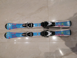 girl's ski 90cm and boots 19.5