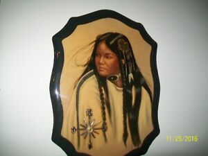 2 Native Wall Pictures $12.00 each, Embracing Statue $25.00 Kitchener / Waterloo Kitchener Area image 1
