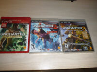 Uncharted 1, Uncharted 2 and Uncharted 3: Drake's Deception