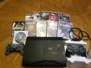 PS 3  Slim with 11 Games