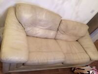 2 leathers sofas (1 sofa is a sofa bed)