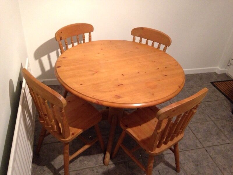 Kitchen TableChairsin Portstewart, County LondonderryGumtree - Kitchen table and 4 chairs for sale. Only selling as we have redecorated our kitchen. Tables width is 1045mm and sits 780mm high